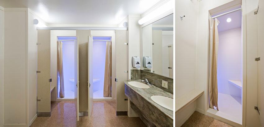 bathrooms at Yocum Hall University of Arkansas