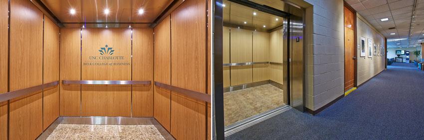 elevators at University of Carolina