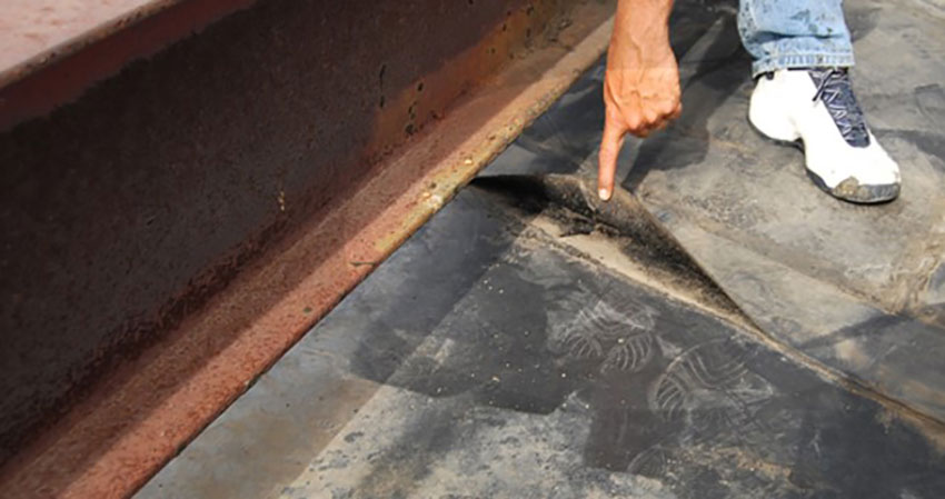 EPDM seam failure