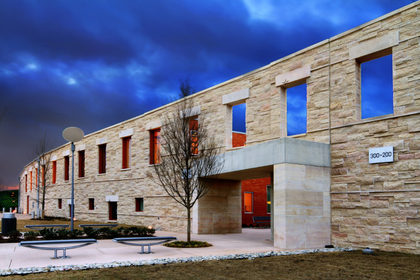 You see a natural stone Building: Natural stone is beautiful, durable, sustainable, and easy to maintain.