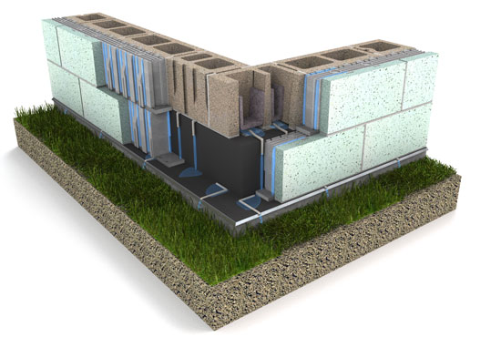 Drainage details in the wall system chosen for Banta Bowl.