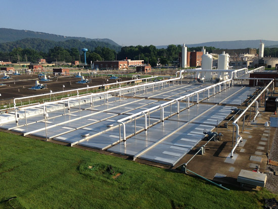 Installing an aluminum flat plate cover over their wastewater allowed Chattanooga to continue their commitments to sustainability.