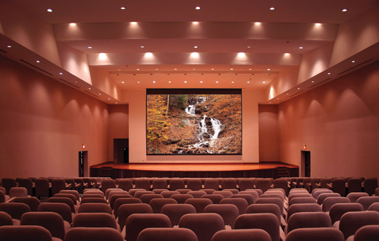 The projection screen is a major influence on the quality of the viewing experience.