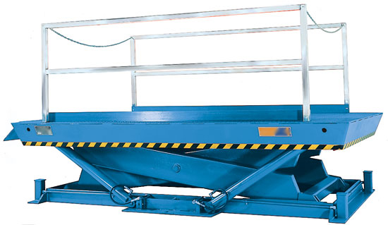 A large size dock lift can service any height of vehicle and is sized to handle any mobile material handling equipment.