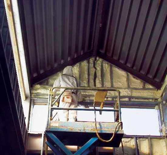 Spray Foam Insulation Fills Wall Cavities Completely And Seals Around Irregular Or Complex Shapes