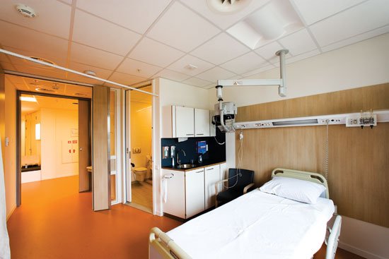 Healthcare settings require excellent acoustics, hygiene, and cleaning capabilities; stone wool ceilings can provide all three.