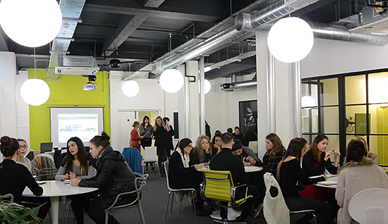 For a new generation of architects, career decisions are often based on work environment, culture and opportunity much more than salary. Here, recent graduates attend a recruitment event during Clerkenwell Design Week in London.