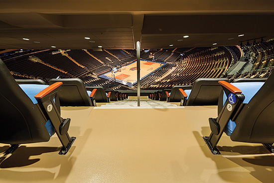 The experiences of people in the seats within the larger facility, such as Madison Square Garden in New York, are driving the trends and evolution of stadiums and arenas of all types.