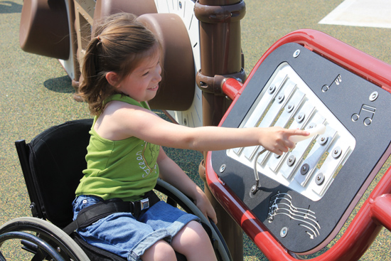 For best results, position play panels in locations on the playground that are accessible to all children.