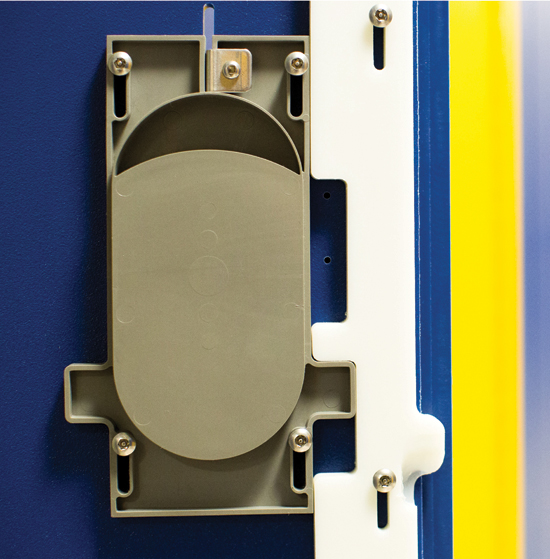 HDPE lockers do not require paints or coatings of any kind.