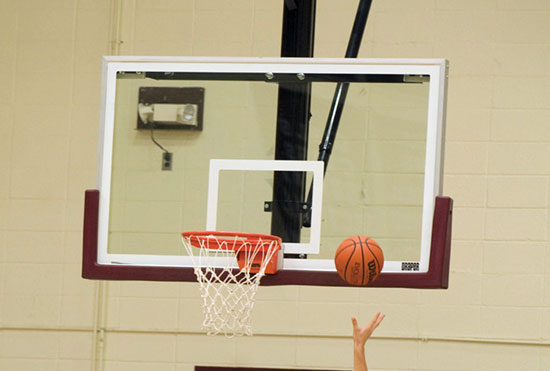 Backboard edge padding helps prevent serious head injury when a player jumps up and makes contact. Ideally, the edge padding is 2 inches thick and runs 15 inches up each side.