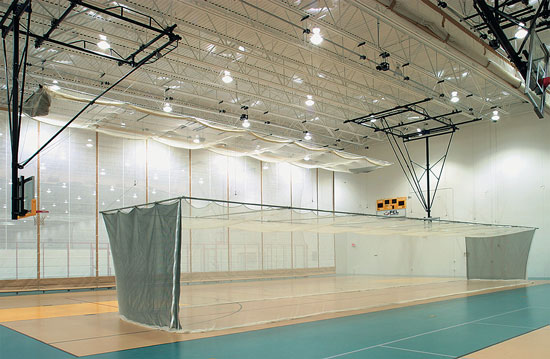 When batting cages are not spaced correctly, injuries may occur.