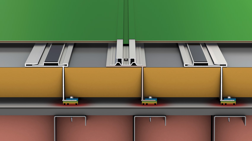 Rendering of the cladding system.