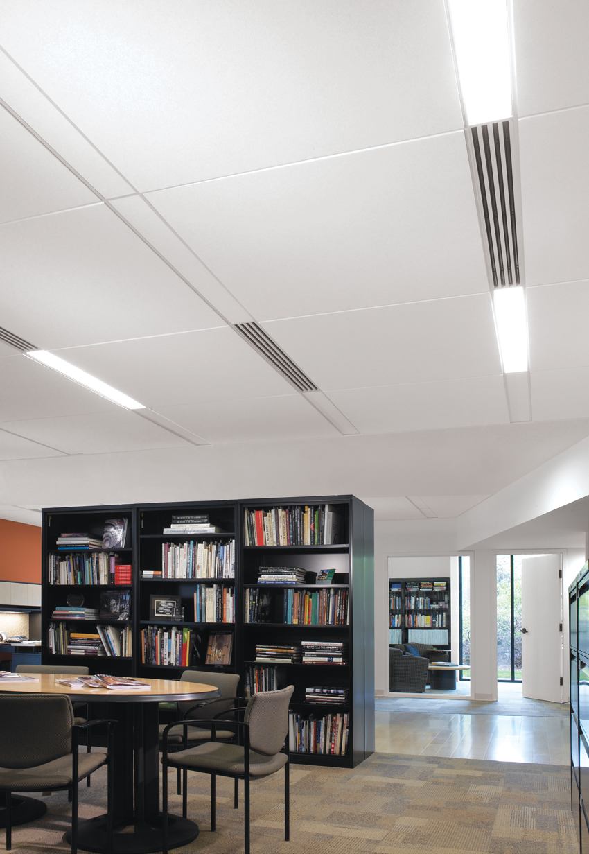 Greenway Group, Atlanta, Georgia DAG Architects, Destin, Florida Ceiling system with compact linear zones for light fixtures and diffusers