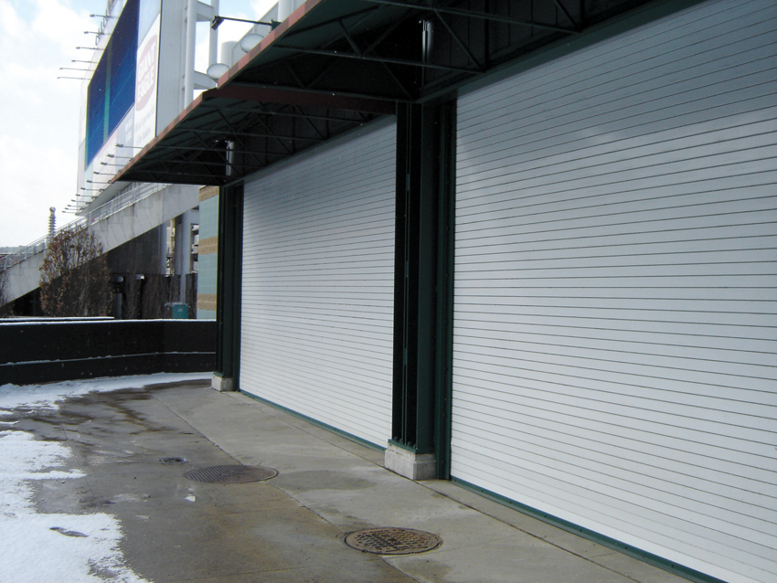 Insulated rolling steel doors provide building security and prevent heat loss, especially with extreme outside temperatures.