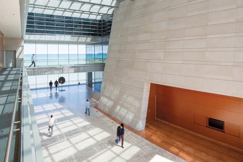 Interior photo of Northwestern University Bienen School of Music, Evanston, Illinois.