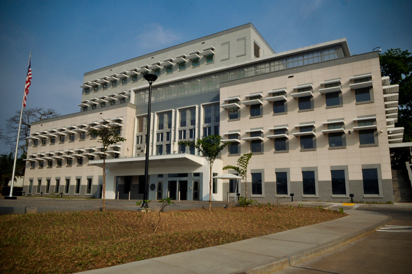 Photo of the U.S. Embassy in Monrovia, Liberia.