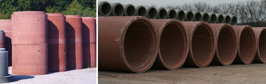 Photo of concrete pipes.