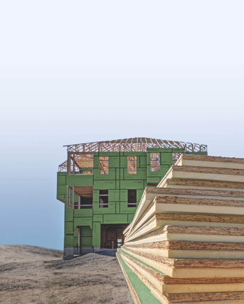 Photo of stacked wood.