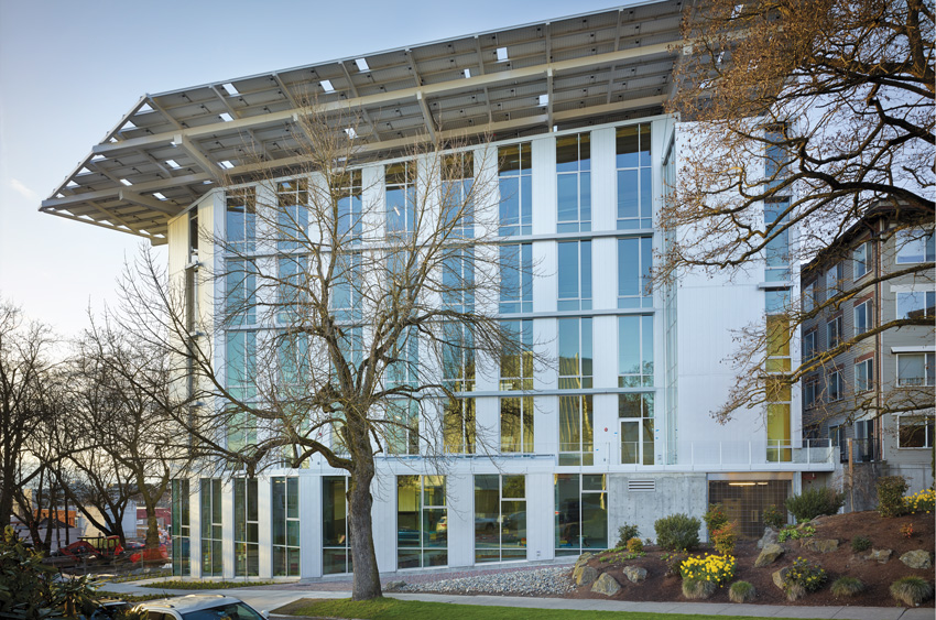 Photo of the Bullitt Center in Seattle.