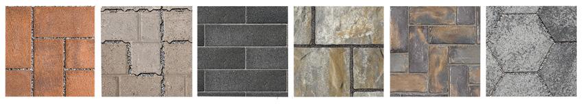 Photos of various pavers.