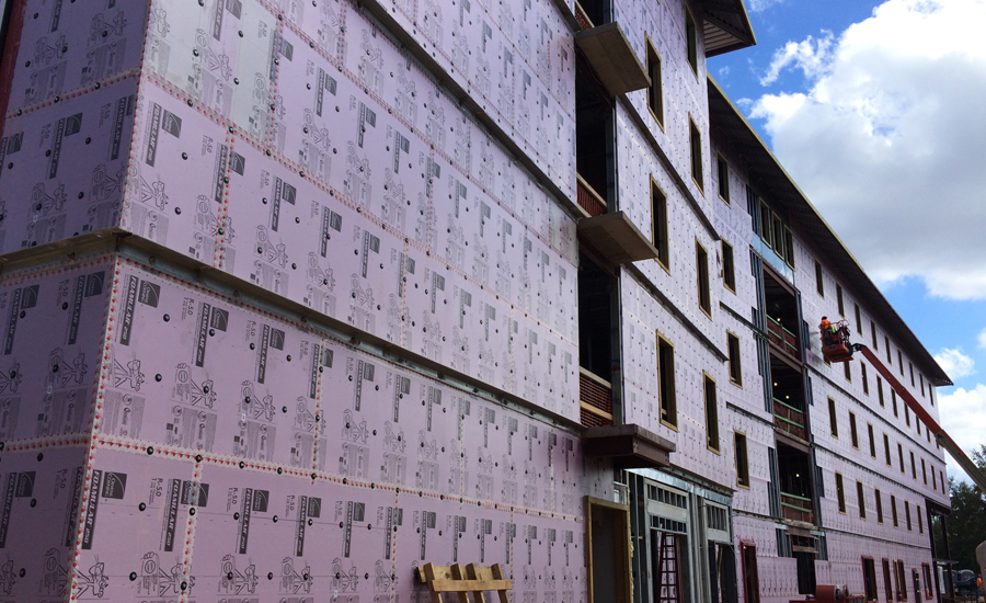 Photo of the Mississippi Student Housing under construction.