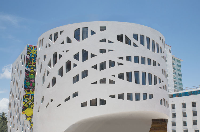 Photo of the art center in Miami.