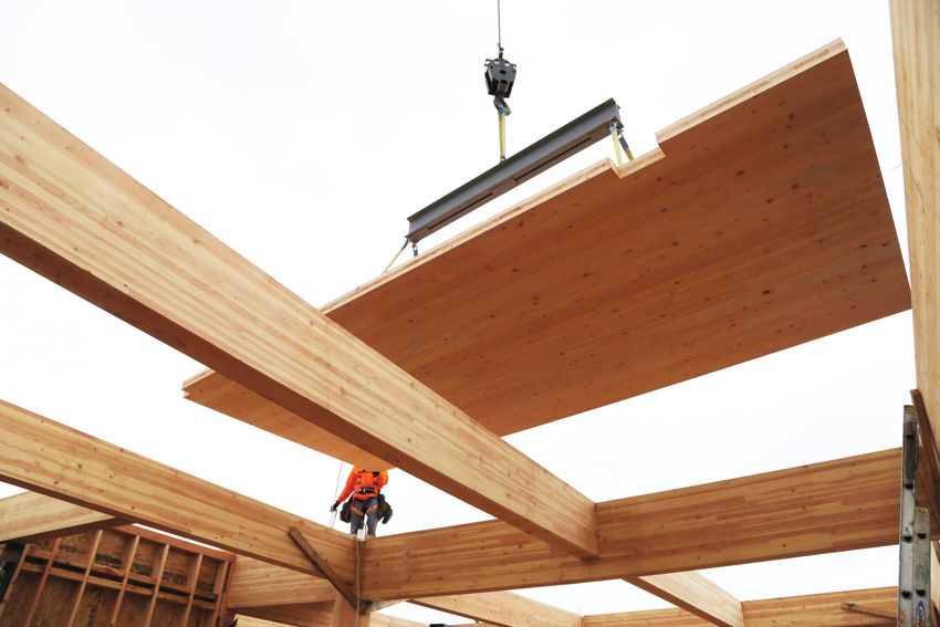 Photo of wood construction.