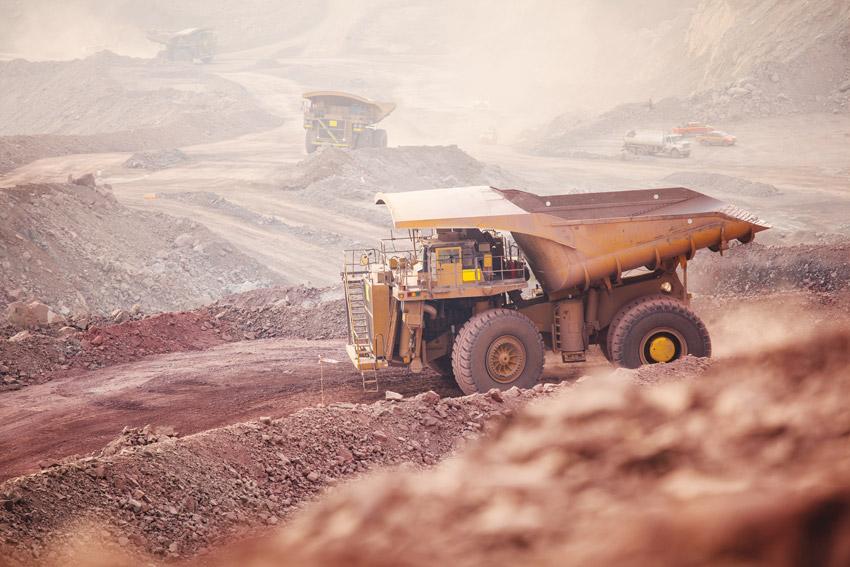 Photo of mining operations.