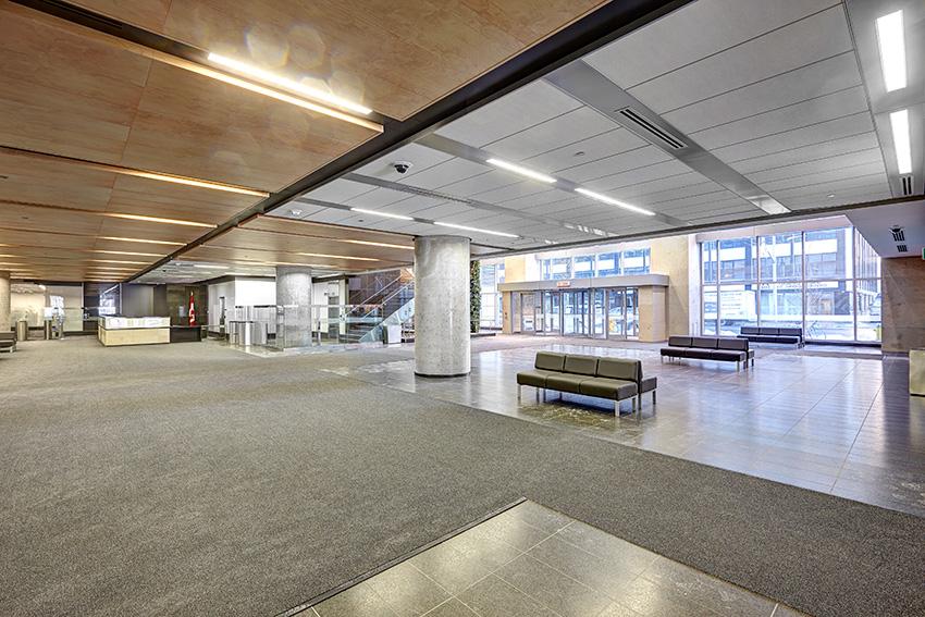 The lobby of John Michael Flaherty Building in Ottawa.