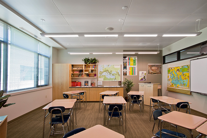 Interior photo of Cranbrook Kingswood Middle School for Girls.