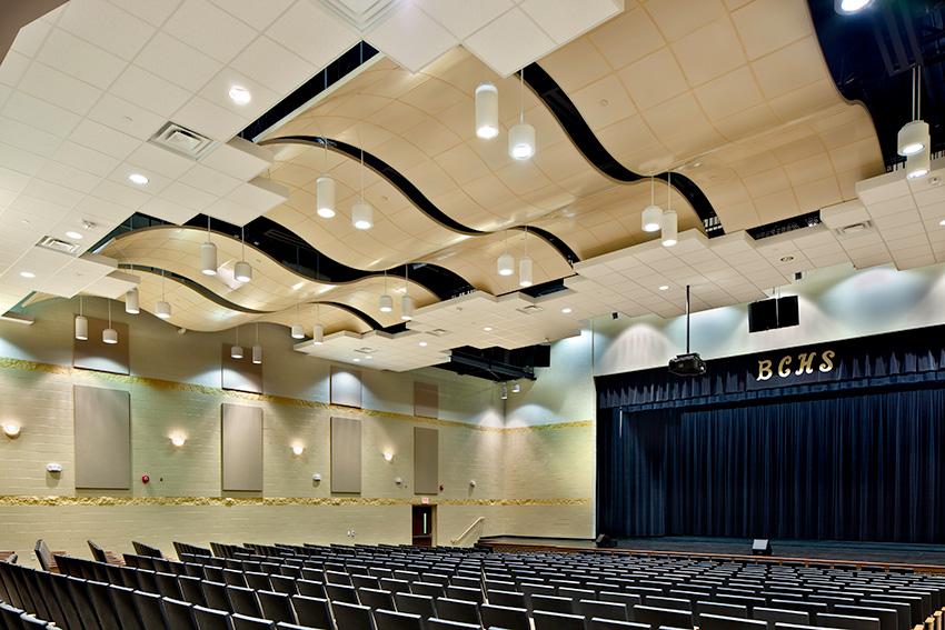 Interior photo of Bradley Central High School Fine Arts Center.