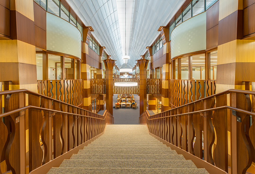 Interior photo of Quinnipiac School of Law.