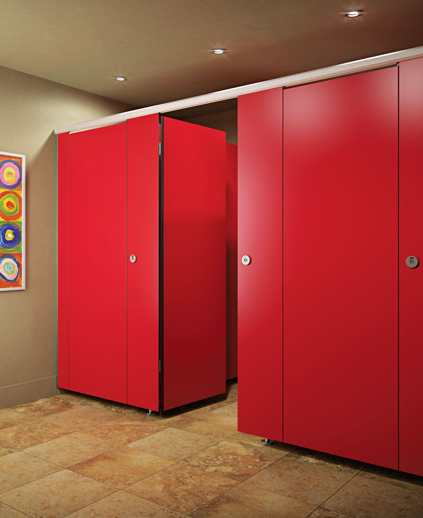 red door restrooms.