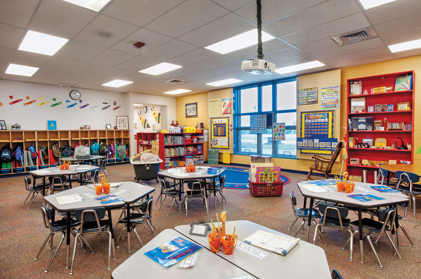 Ewalt Elementary School in Augusta, Kansas classroom