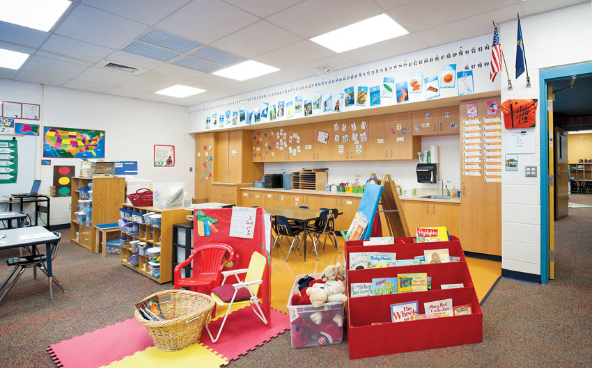 At Ewalt Elementary School, a classroom that is FEMA-compliant tornado shelter