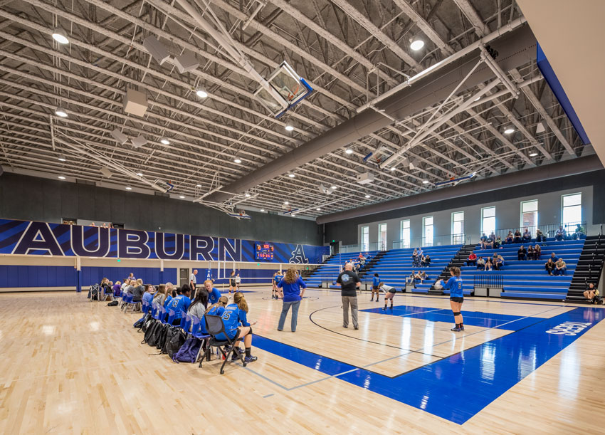 Auburn High School's gymnasium in Auburn, Alabama