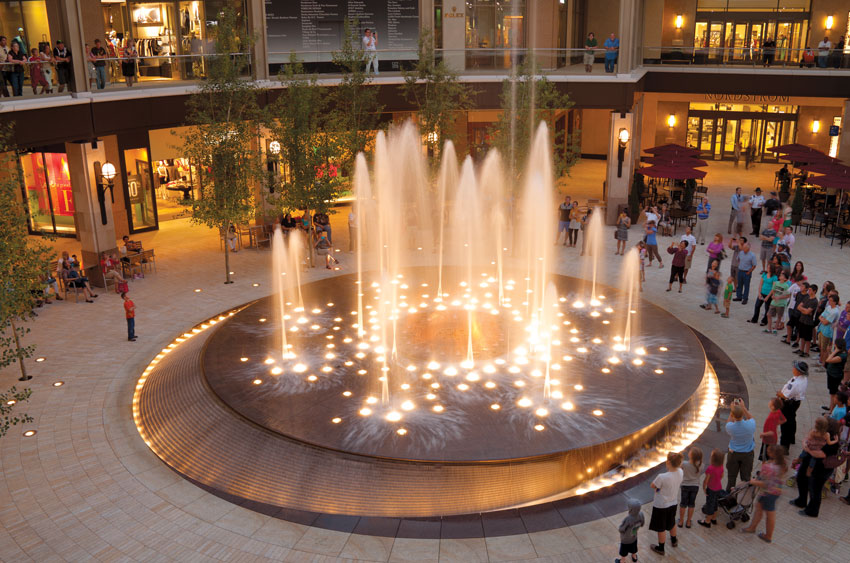 Foundtain at City Creek Center in Salt Lake City.