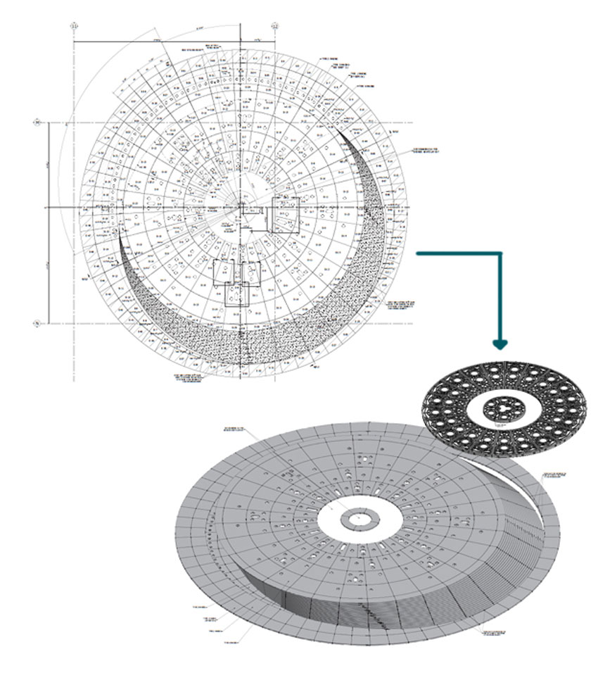 modeling software of fountain's complex geometries