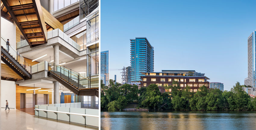 Central Libarary (below, left and right) in Austin, Texas,