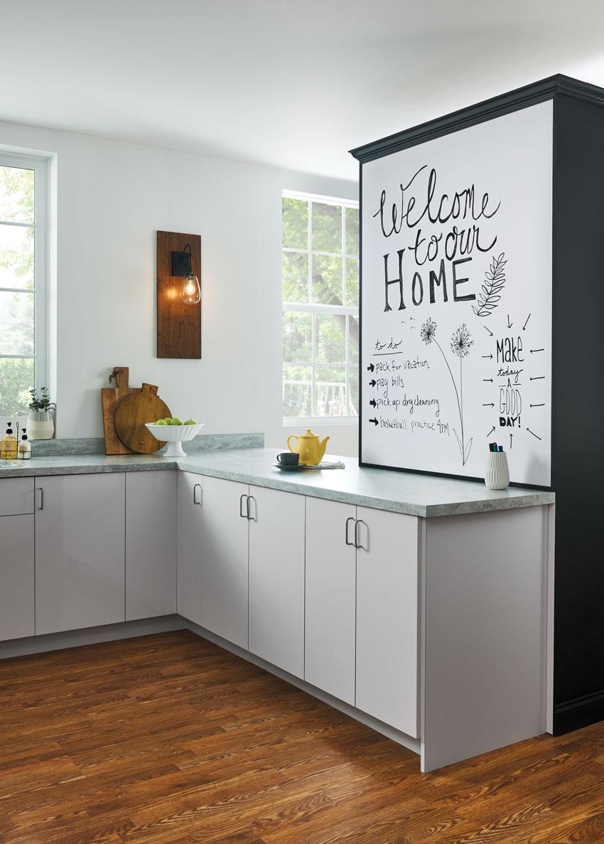 laminate surface in modern kitchen