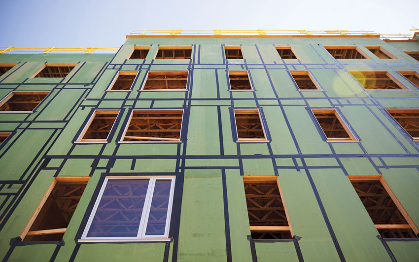 Water-resistive barrier in the green building envelope