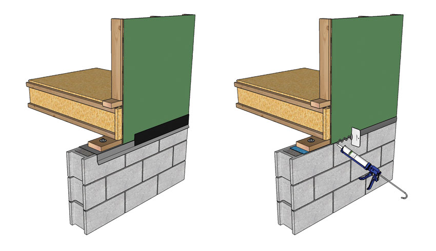 Image of Foundation to Framed Wall