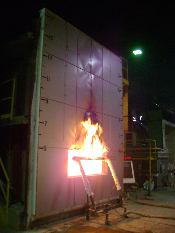 NFPA 285 test wall