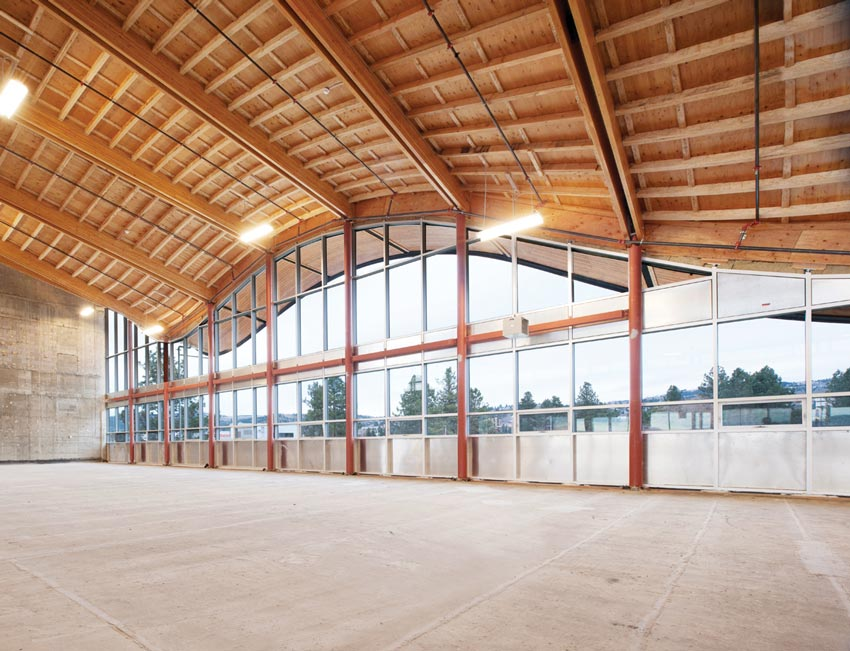 Photo of the roof at Thompson River University Law School.