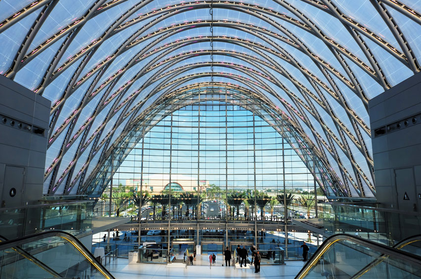 The new Anaheim Regional Transportation Intermodal Center in Anaheim, Calif.
