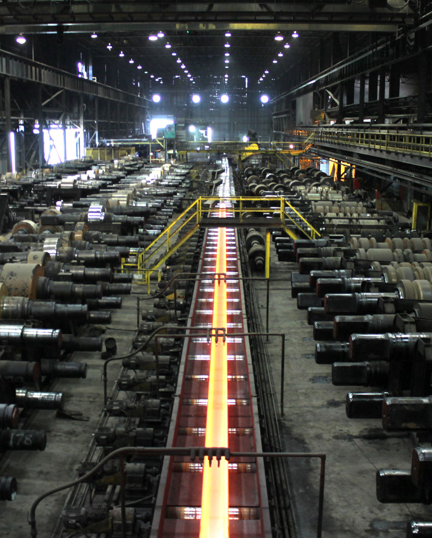 Shown is the rolling mill.
