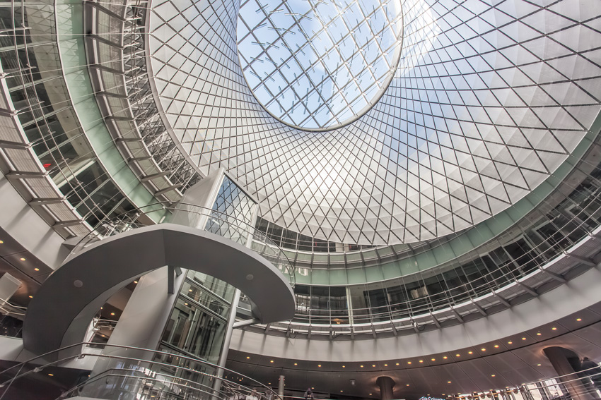 Interior of Fulton Center Transit Hub.