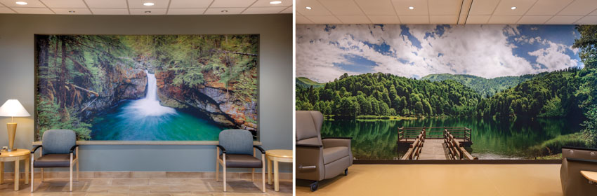 Two interior photos of All Saints Hospital.