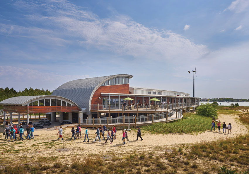 SmithGroupJJR's Brock Environmental Center in Virginia Beach, Virginia.